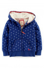 Shaggy Star Print Hoodie (Toddler Girls, Little Girls & Big Girls)