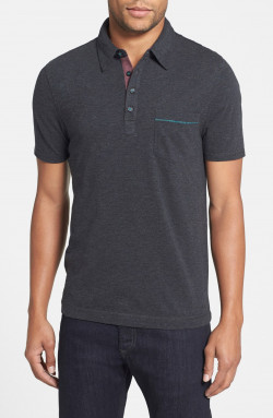'Bing' Trim Fit Cotton Jersey Polo